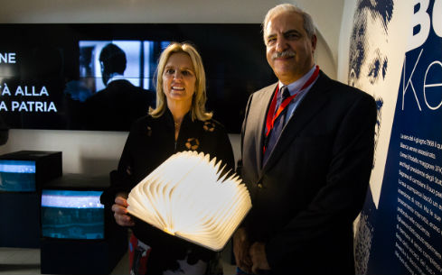 Kerry Kennedy e inaugurazione mostra Bob Kennedy The Dream a Cuneo